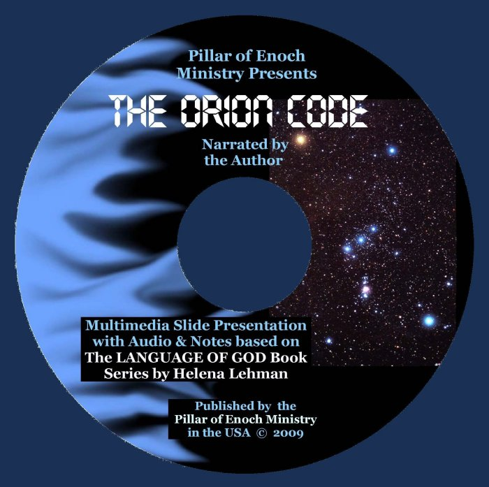 Cover for 'The ORION CODE' by Helena Lehman