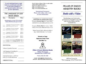 Brochure for 'The Language of God Book Series'